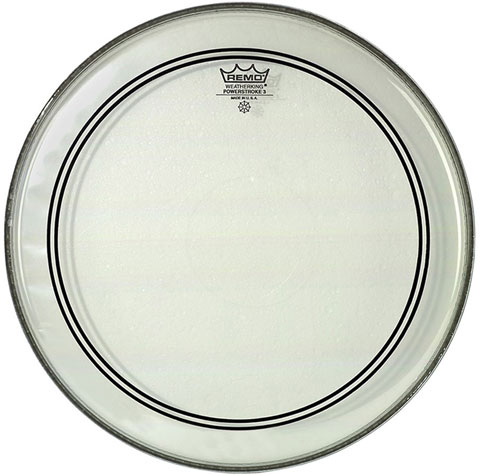 "Remo 20"" Powerstroke P3 Clear Bass Drum Head with Falam Patch"
