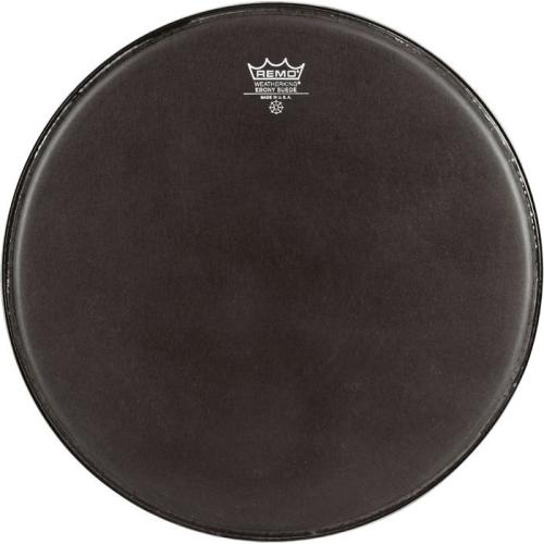 "Remo 24"" Powermax Black Suede Crimplock Marching Bass Drum Head"