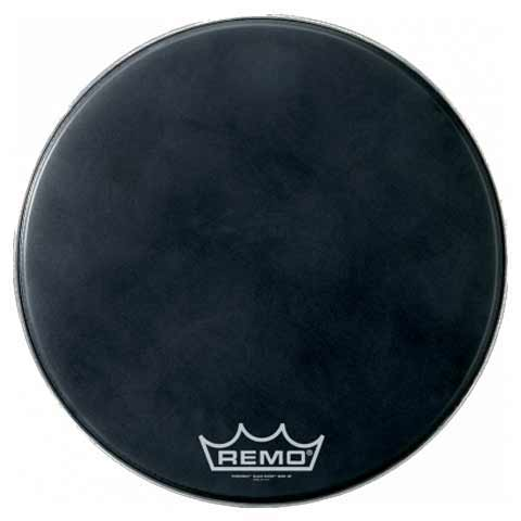 "Remo 30"" Powermax Black Suede Crimplock Marching Bass Drum Head"