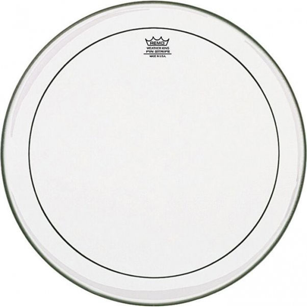 "Remo 18"" Pinstripe Clear Drum Head"