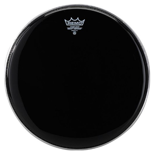 "Remo 12"" Pinstripe Ebony Crimplock Marching Tenor Drum Head"