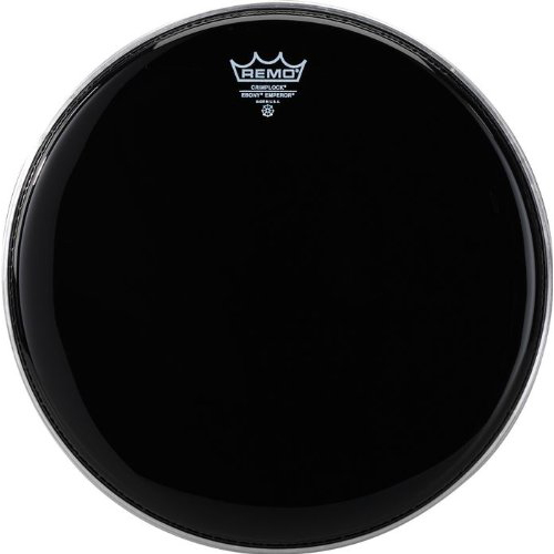 "Remo 14"" Pinstripe Ebony Crimplock Marching Tenor Drum Head"