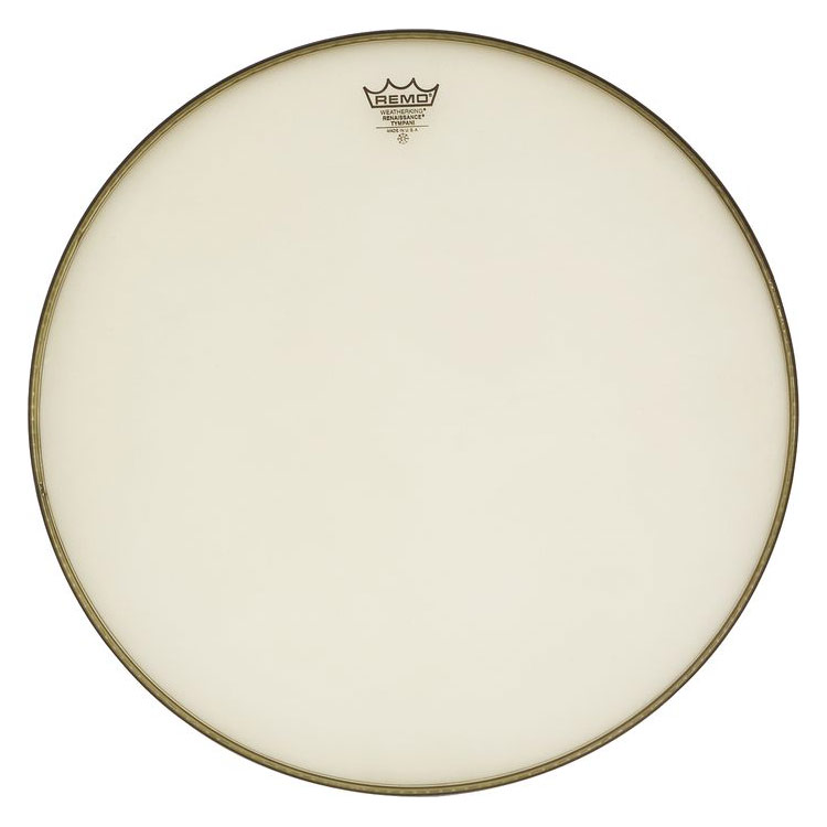 "Remo 22"" RC-Series (Renaissance) Hazy Timpani Head with Low-Profile Steel Insert Ring"