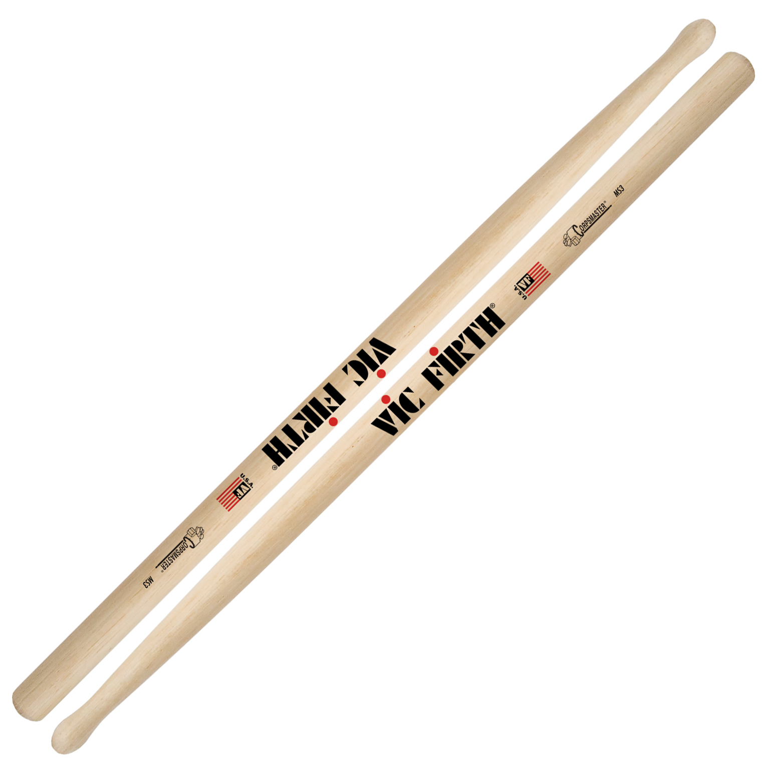 vic firth ms3 corpsmaster marching snare sticks ms3. Black Bedroom Furniture Sets. Home Design Ideas