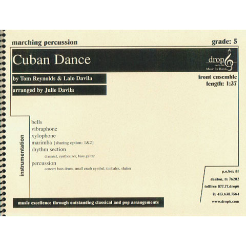 Cuban Dance by Tom Reynolds and Lalo Davila arr. Julie Davila