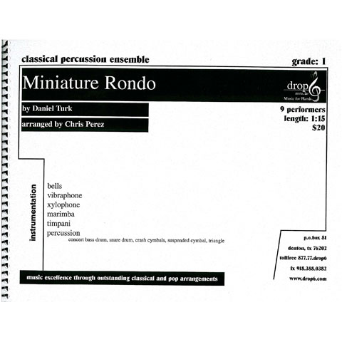 Miniature Rondo by Daniel Turk arr. Chris Perez