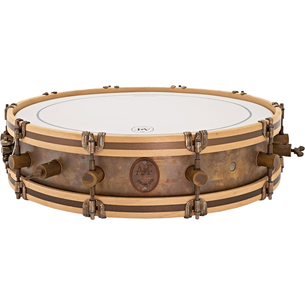 "A&F Drum Co. 4"" x 18"" Gun Shot Snare Drum with Wood Hoops"