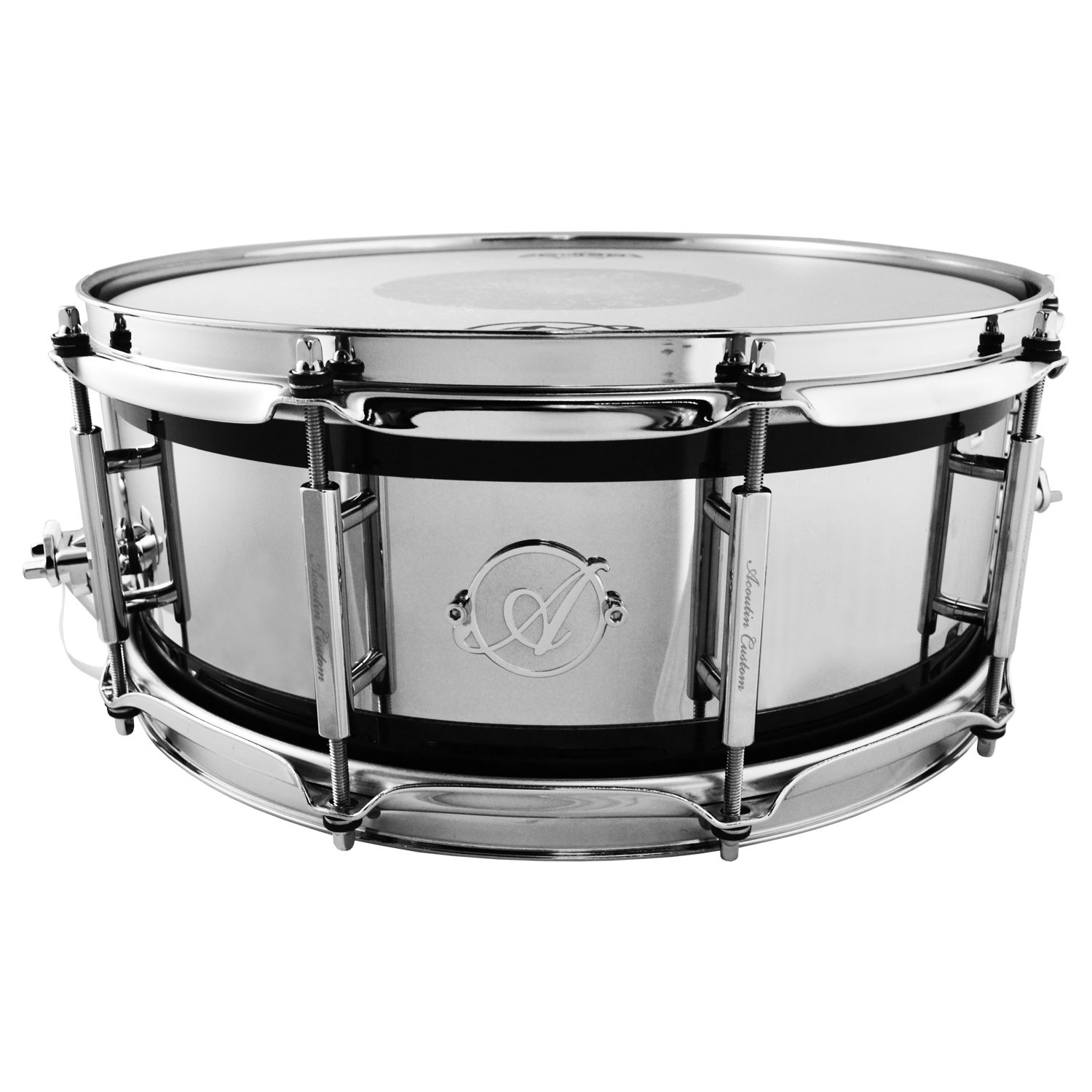 "Acoutin 5.5"" x 14"" Wenge & Polished Stainless Steel Snare Drum"
