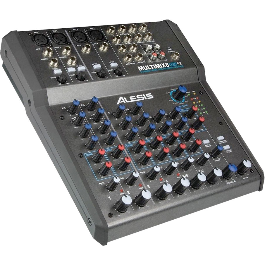Alesis MultiMix 8 USB FX 8-Channel Desktop Mixer