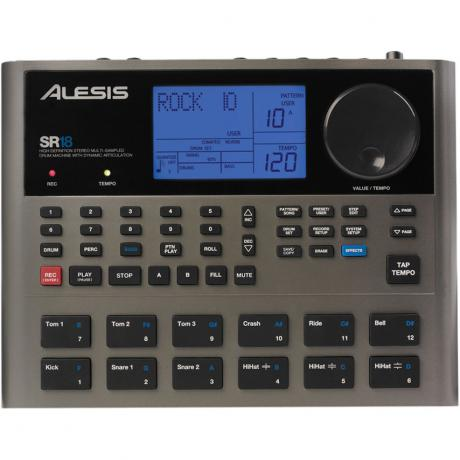 Alesis SR18 Drum Machine with 32MB Sound Library and Built-In Effects