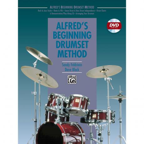 Alfred's Beginning Drumset Method by Sandy Feldstein and Dave Black (Book & DVD)