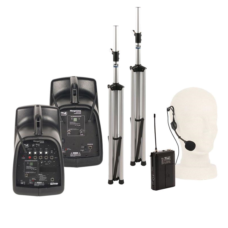 Anchor Audio MegaVox Deluxe AIR Package with Beltpack Transmitter (WB-8000) and Headband Mic (HBM-TA4F)