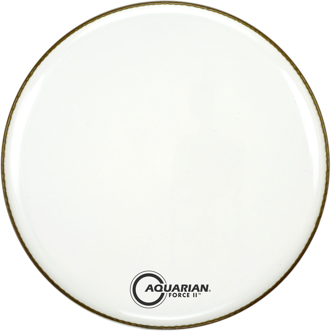 "Aquarian 20"" Force II White Gloss Resonant Bass Head with Vented Control Ring"