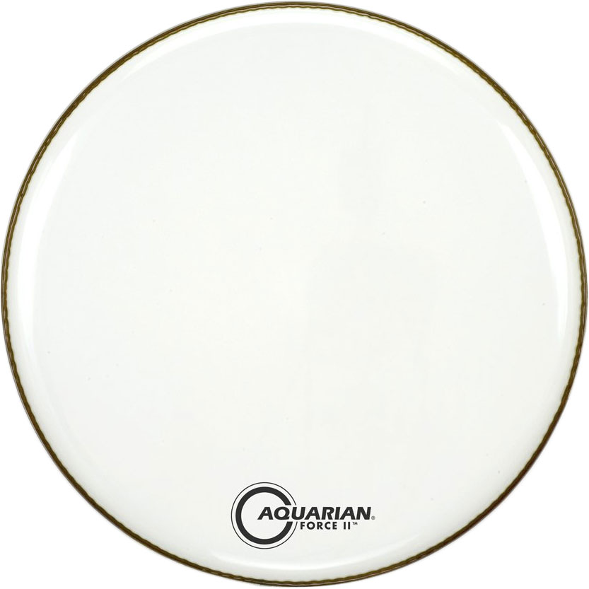"Aquarian 22"" Force II White Gloss Resonant Bass Head with Vented Control Ring"