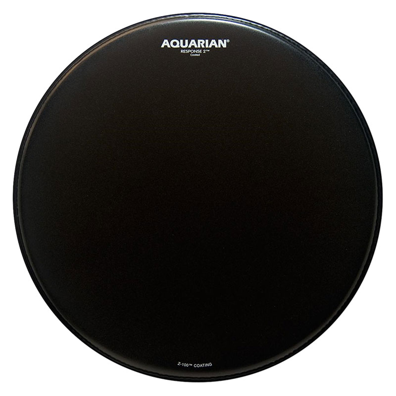 "Aquarian 16"" Black Texture Coated Response 2 Drum Head"
