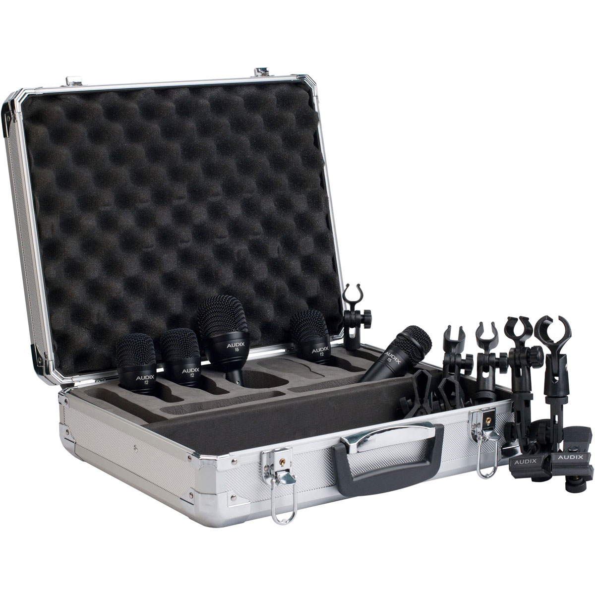 Audix FP5 Fusion Series 5 mic drum package with road case