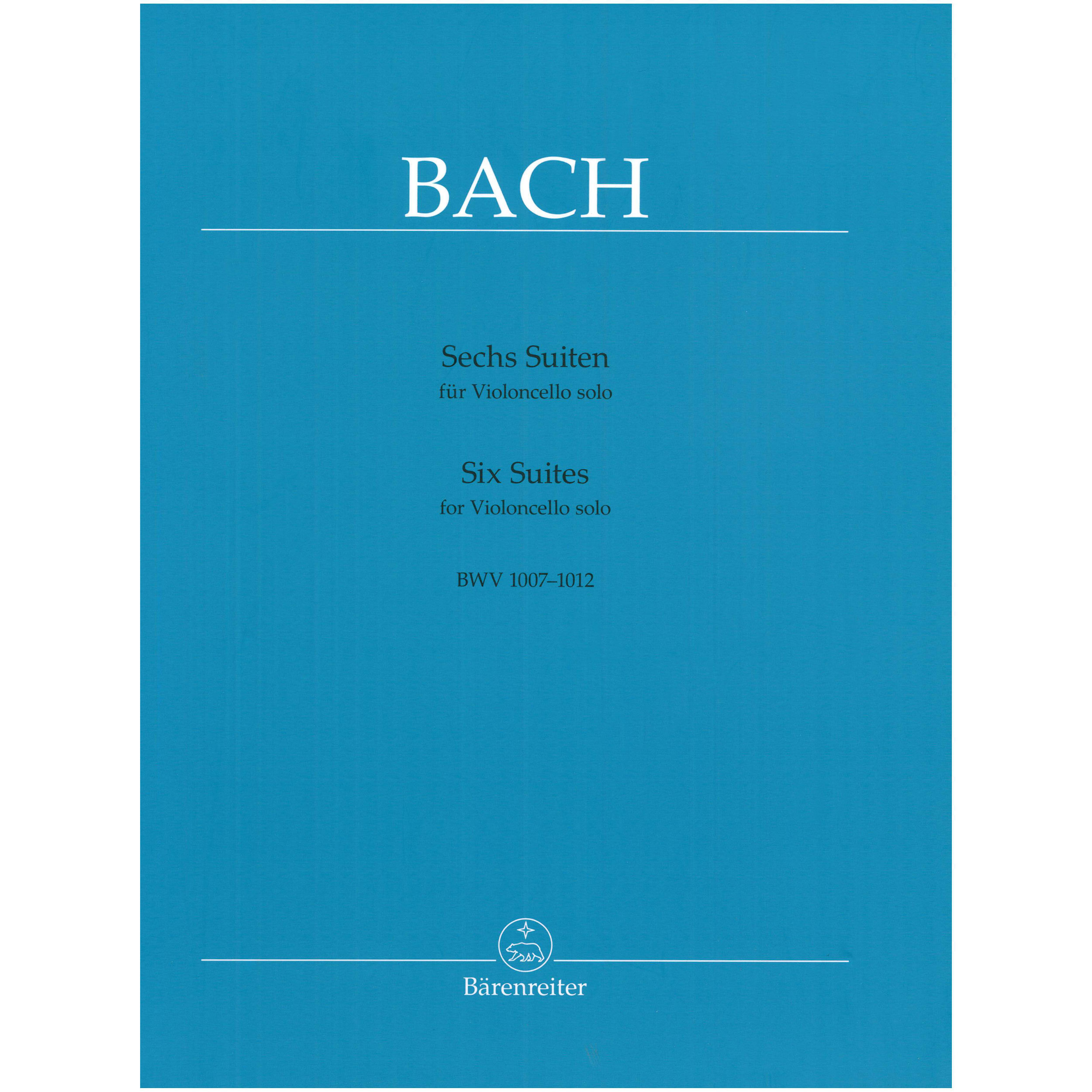 Six Suites for Violincello by J. S. Bach ed. Wenzinger