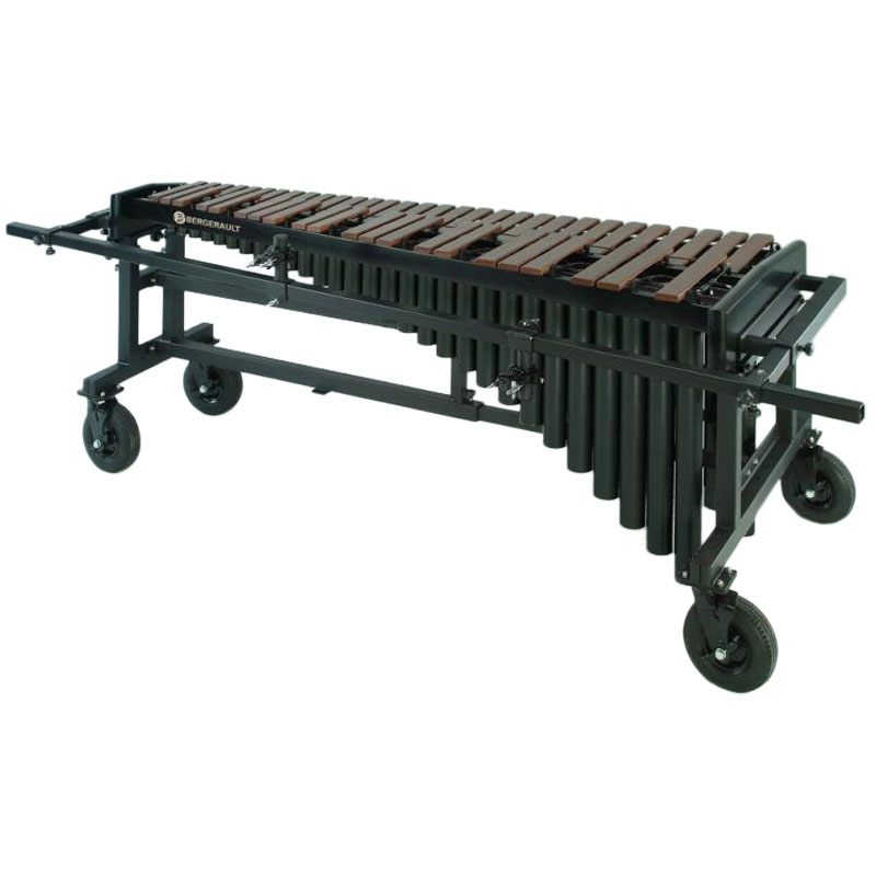 Bergerault 4.5 Octave Performance Series Marimba with Synthetic Bars and Grid Iron Cart