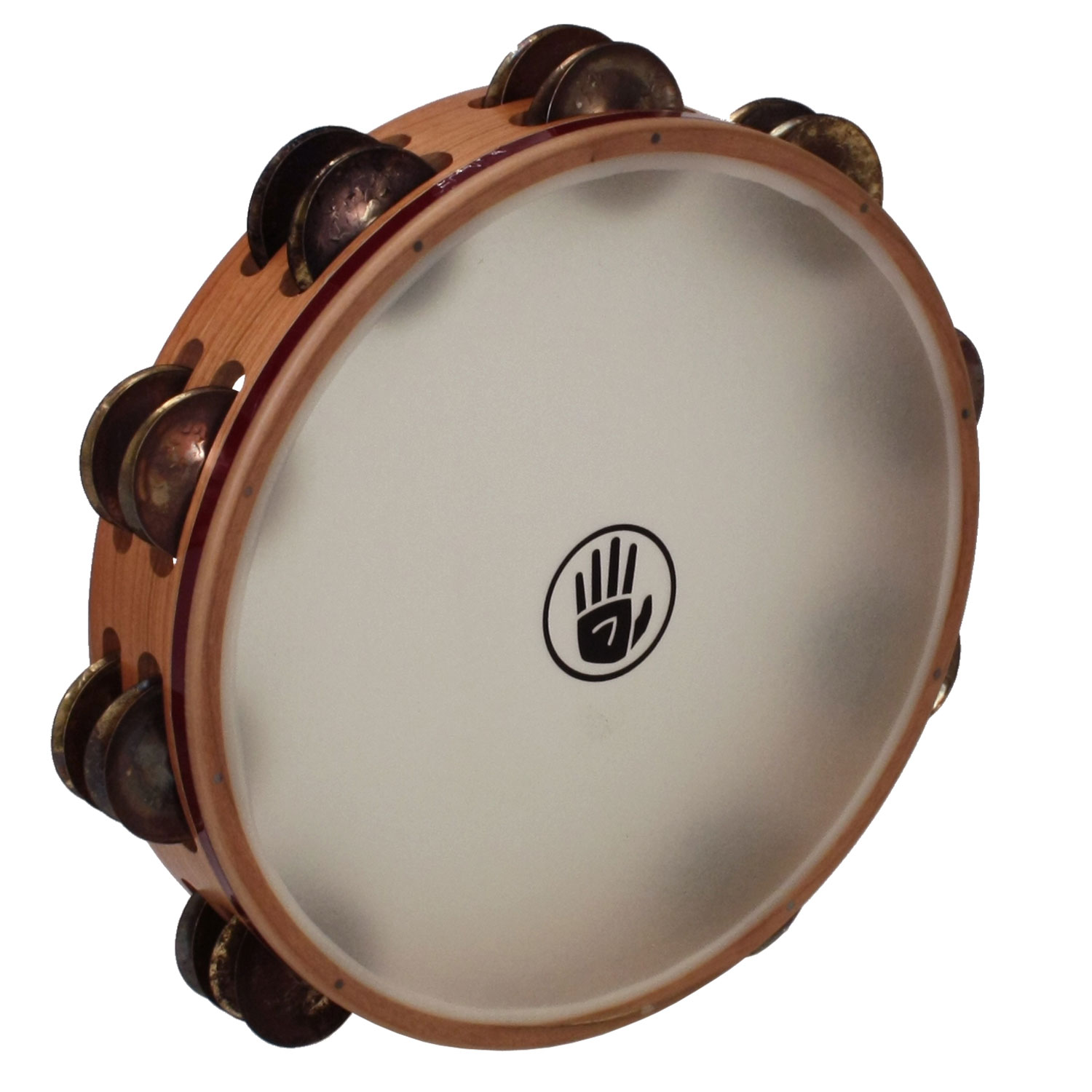 "Black Swamp 10"" SoundArt Double Row Chromium/Bronze Tambourine (Natural Head)"
