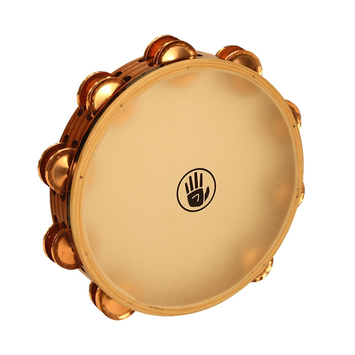 "Black Swamp 10"" SoundArt Double Row Phosphor Bronze Tambourine (Natural Head)"
