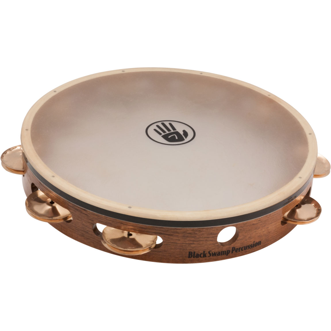 "Black Swamp 10"" SoundArt Single Row Beryllium Copper Tambourine (Natural Head)"