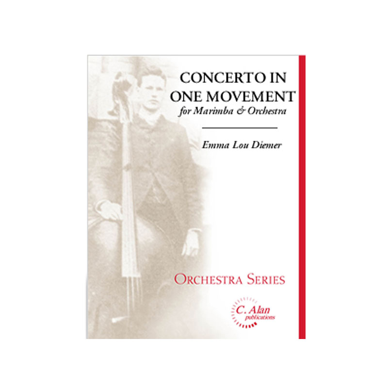 Concerto in One Movement for Marimba (Piano Red.) by Emma Lou Diemer