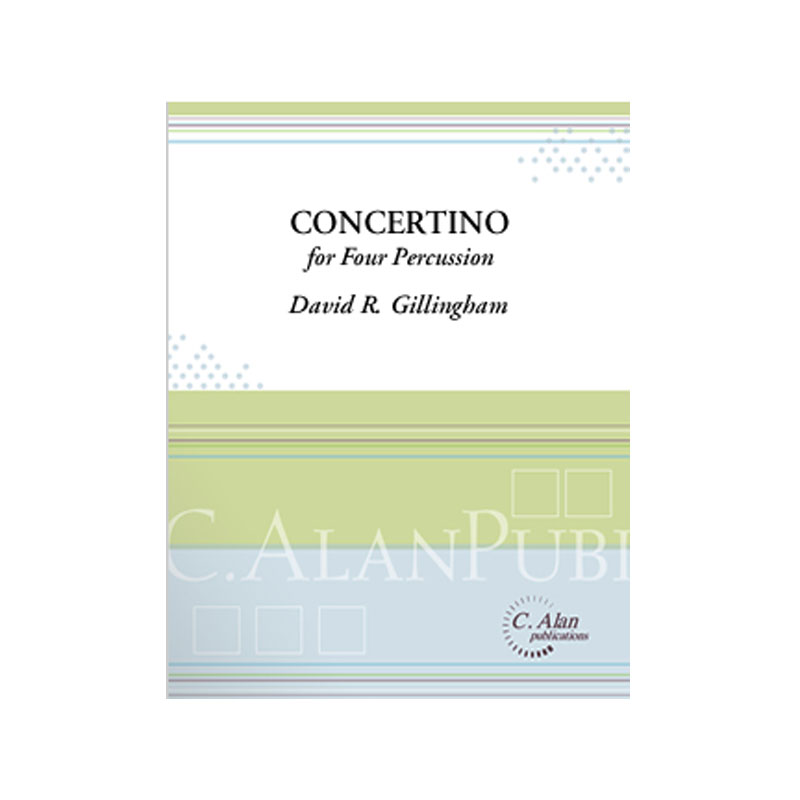 Concertino for Four Percussion (Piano Reduction) by David R. Gillingham