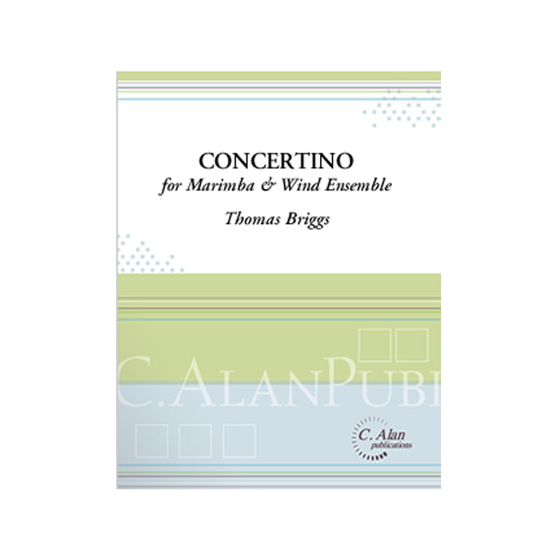 Concertino for Marimba & Wind Ensemble (Piano Red.) by Thomas Briggs