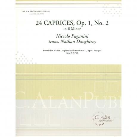 24 Caprices, Op. 1 No. 2 in B Minor by Paganini adp. Nathan Daughtrey