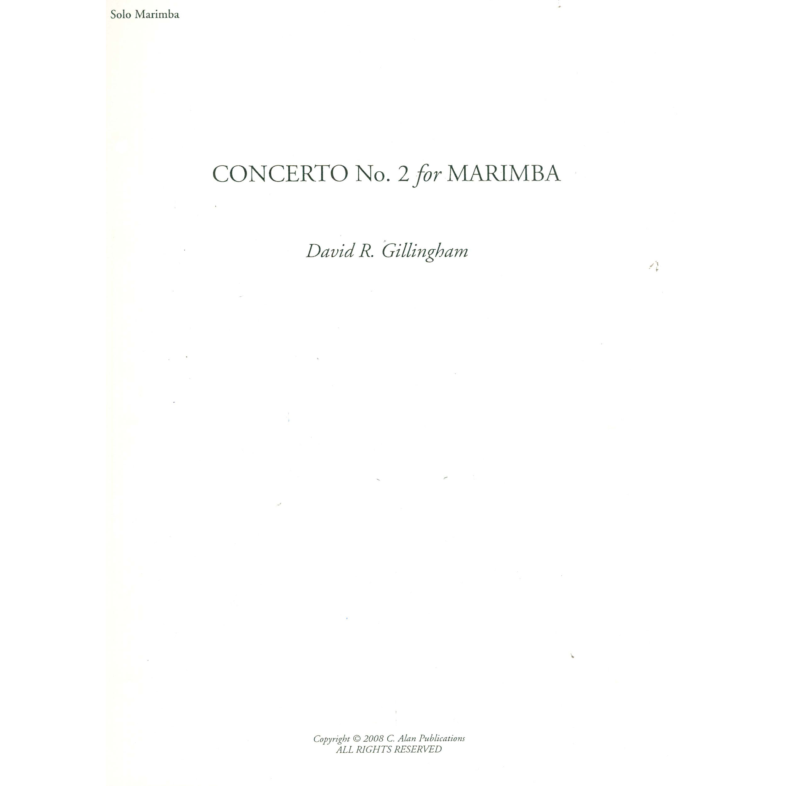 Concerto No. 2 by David R. Gillingham
