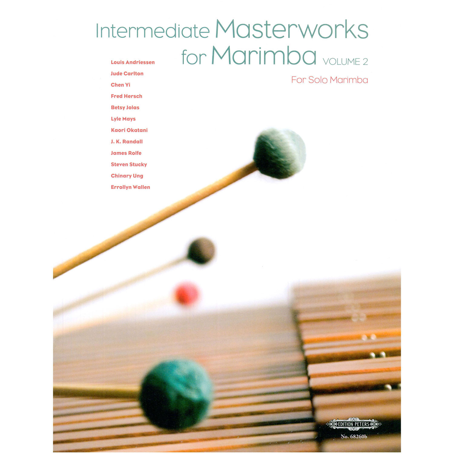 Intermediate Masterworks for Marimba - Volume 2 by Nancy Zeltsman