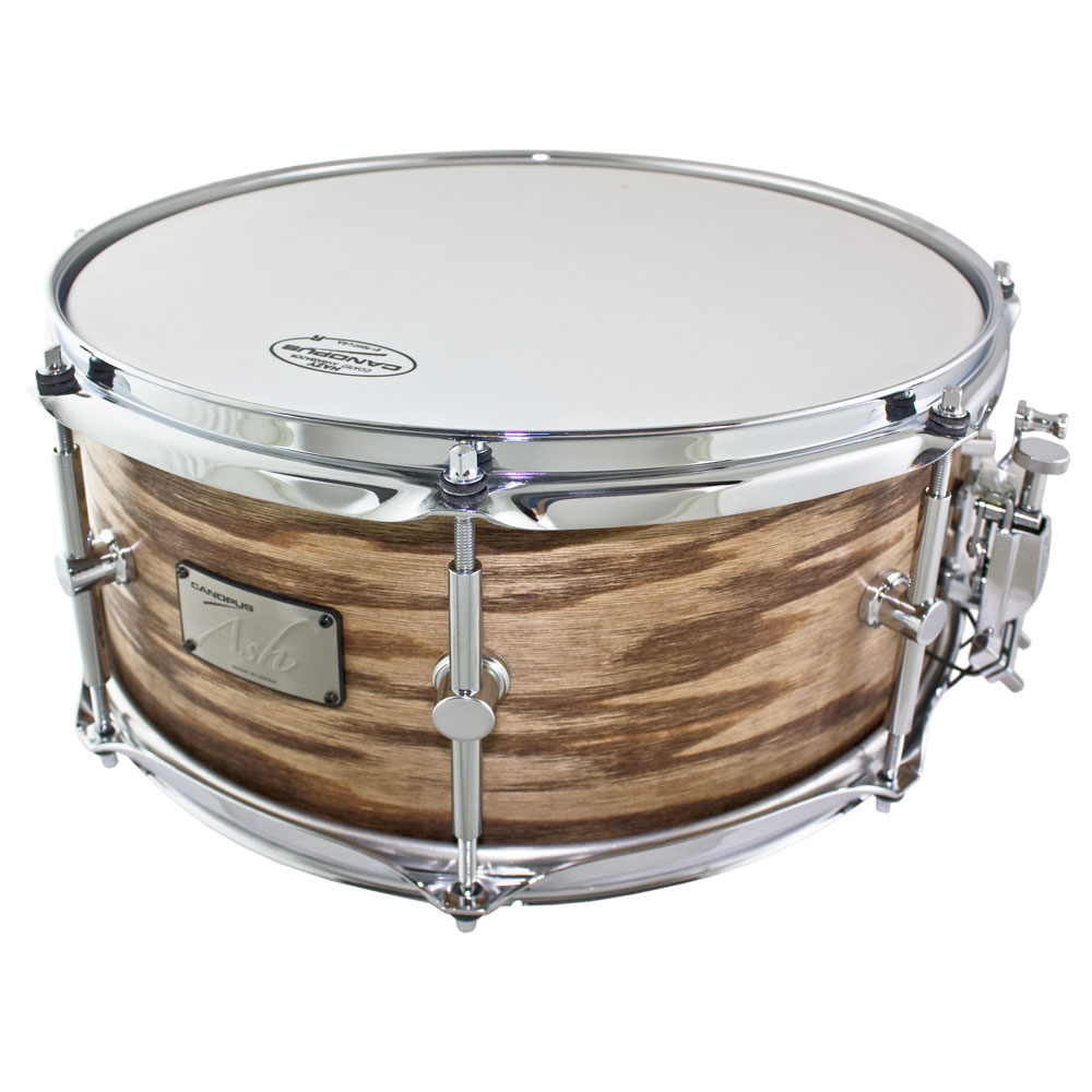 "Canopus 6.5"" x 14"" Ash/Poplar Snare Drum in Natural Grain Oil"