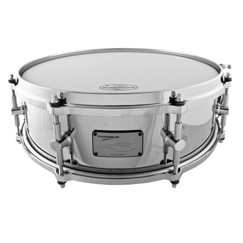"""Canopus 5"""" x 14"""" The Steel Nickel-Plated Snare Drum"""