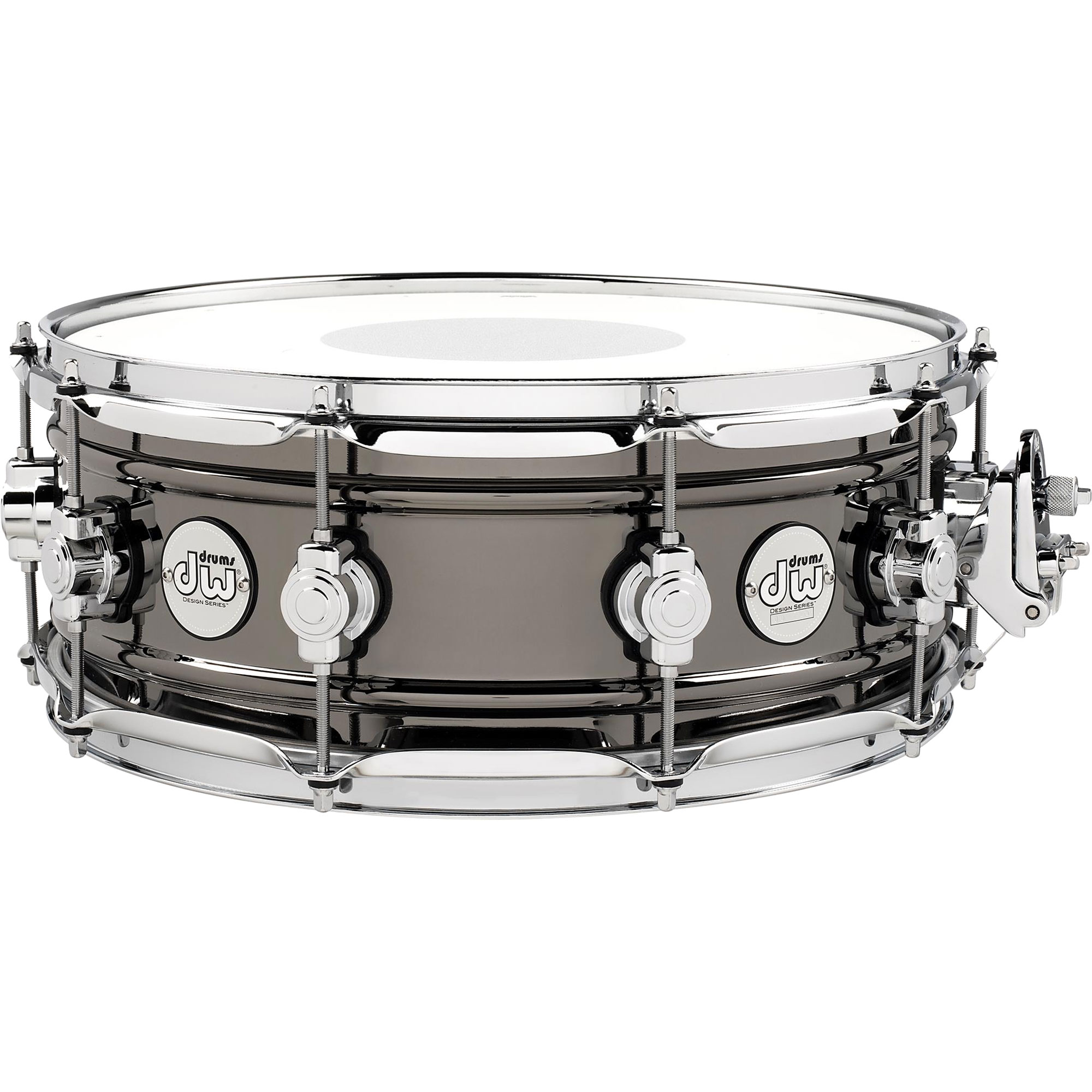 "DW 5.5"" x 14"" Design Series Black Nickel Over Brass Snare Drum"