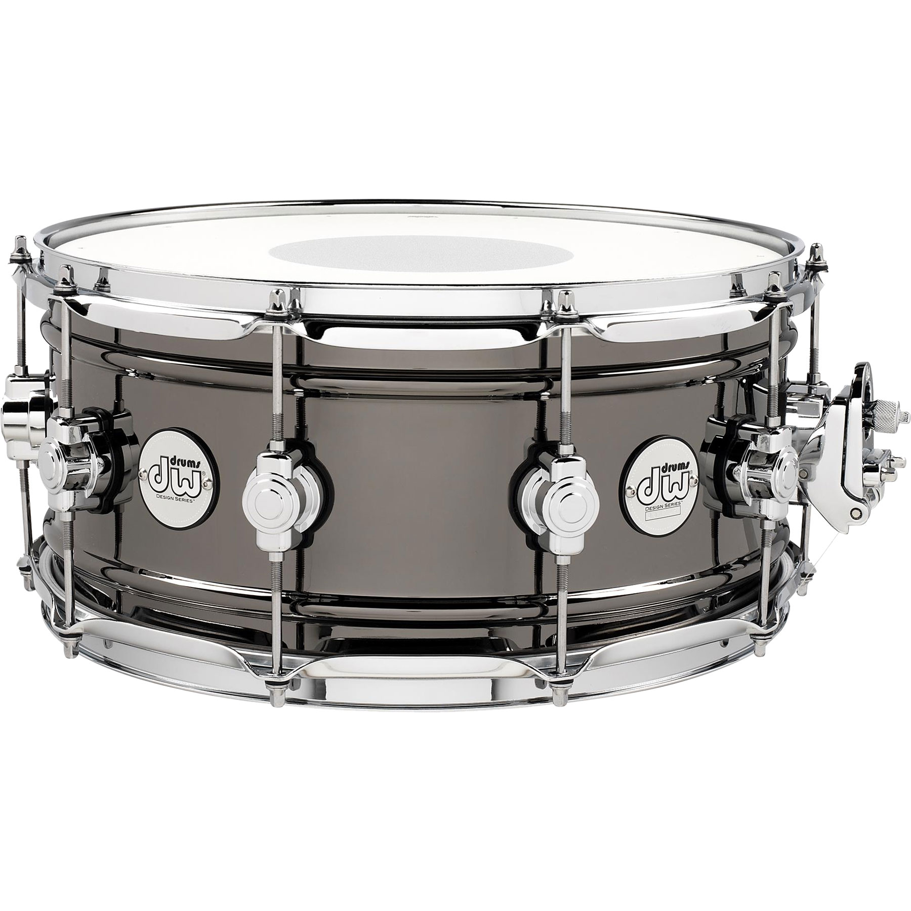 "DW 6.5"" x 14"" Design Series Black Nickel Over Brass Snare Drum"
