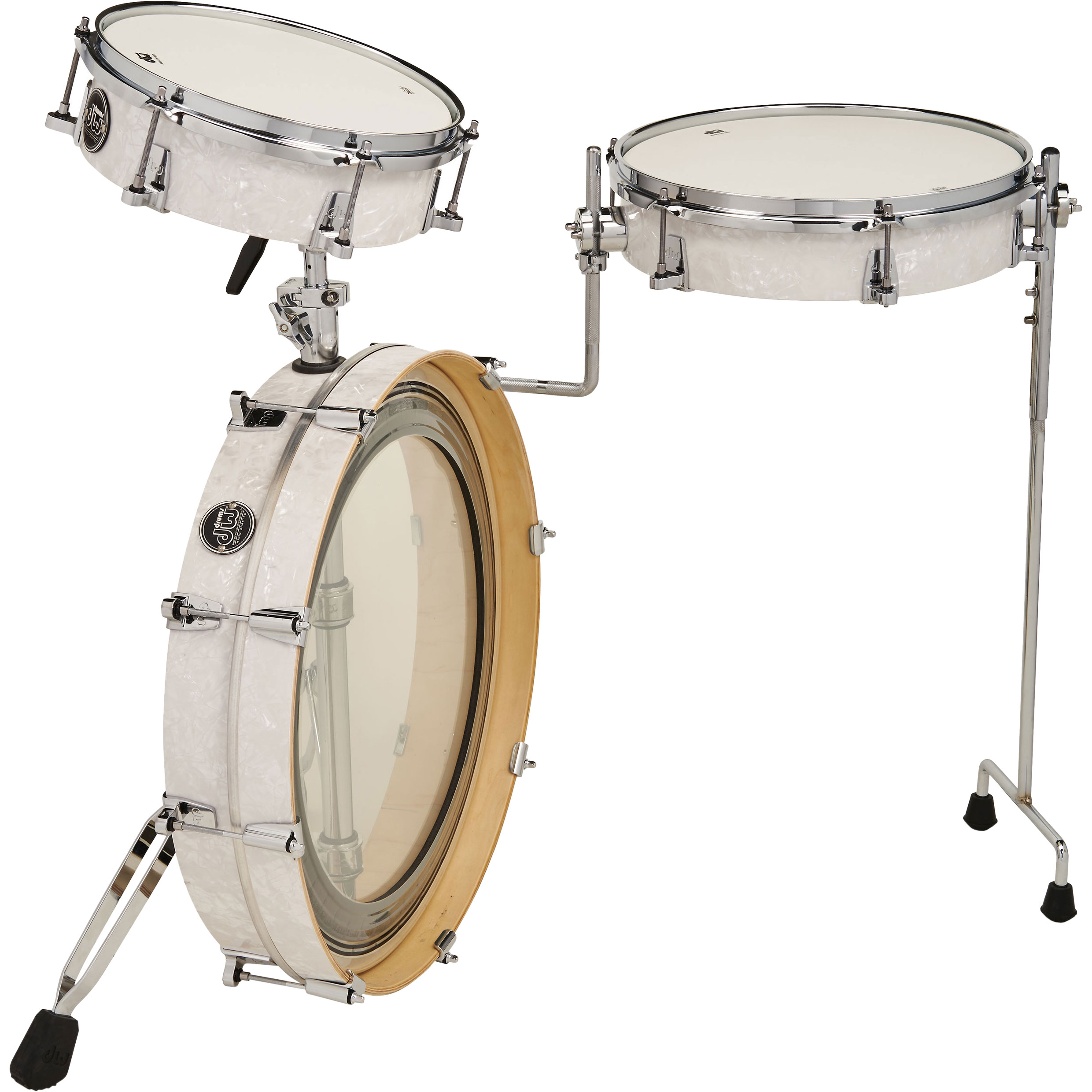 "DW Performance 3-Piece LowPro Travel Drum Set (20"" Bass, 10/13"" Toms)"