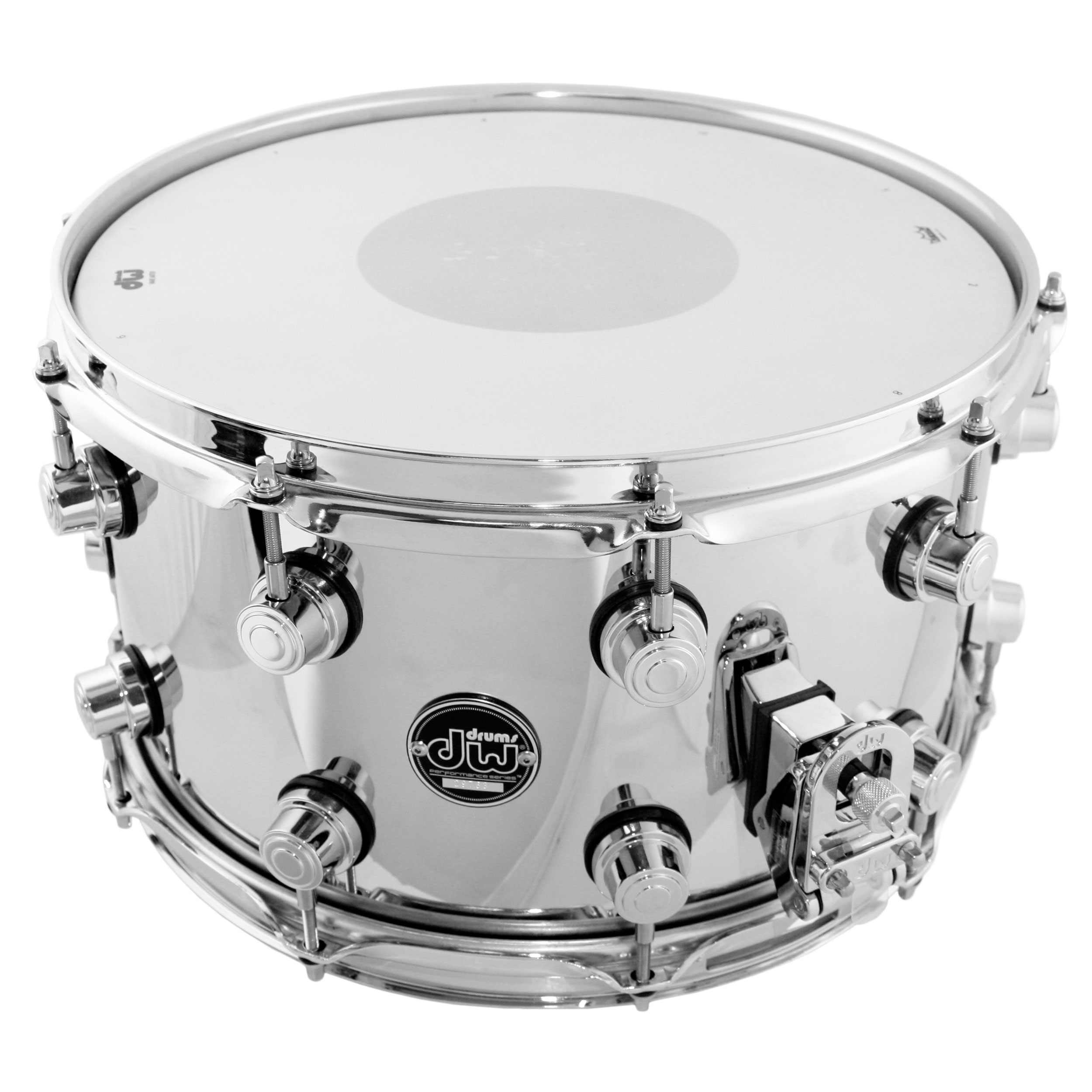 "DW 8"" x 14"" Performance Series Chrome Over Steel Snare Drum"