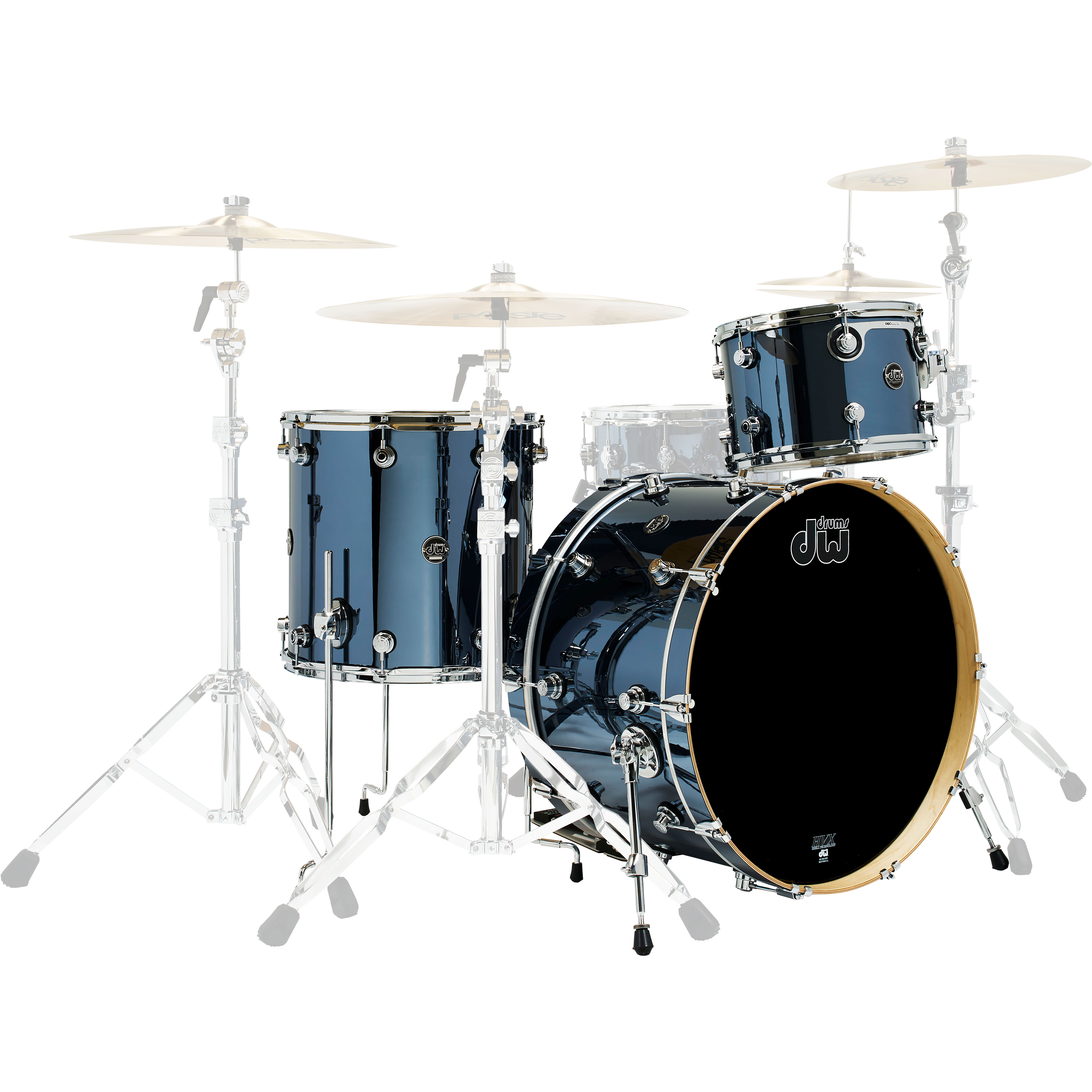 "DW Performance 3-Piece Drum Set Shell Pack (24"" Bass, 12/16"" Toms)"