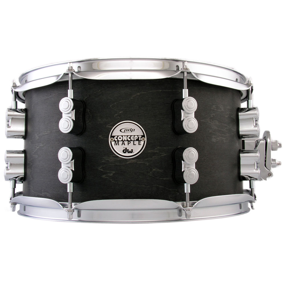 "PDP 7"" x 13"" Concept Black Wax Maple Snare Drum"