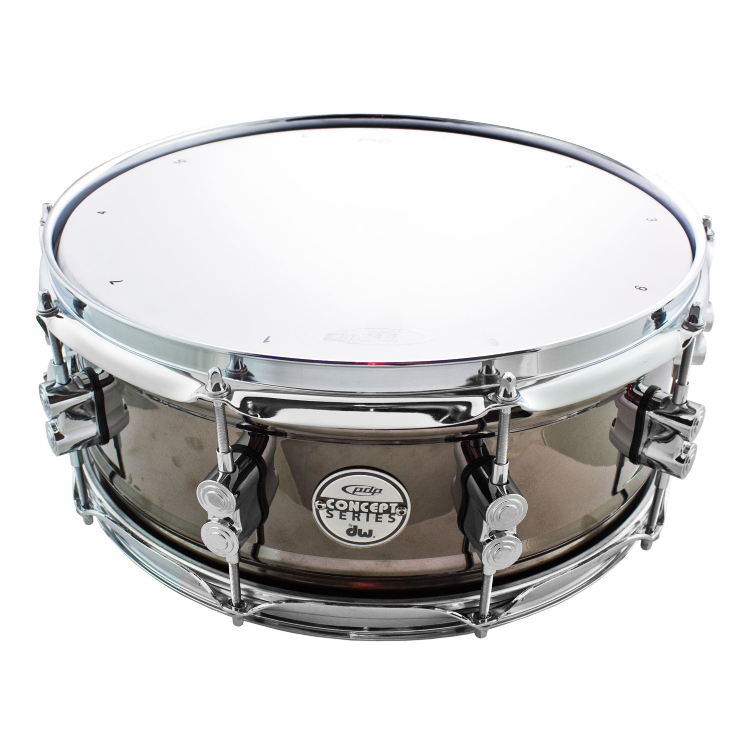 "DW 5.5"" x 14"" Concept Black Nickel Over Steel Snare Drum"