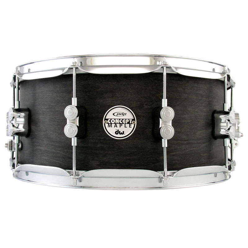 "PDP 6.5"" x 14"" Concept Black Wax Maple Snare Drum"