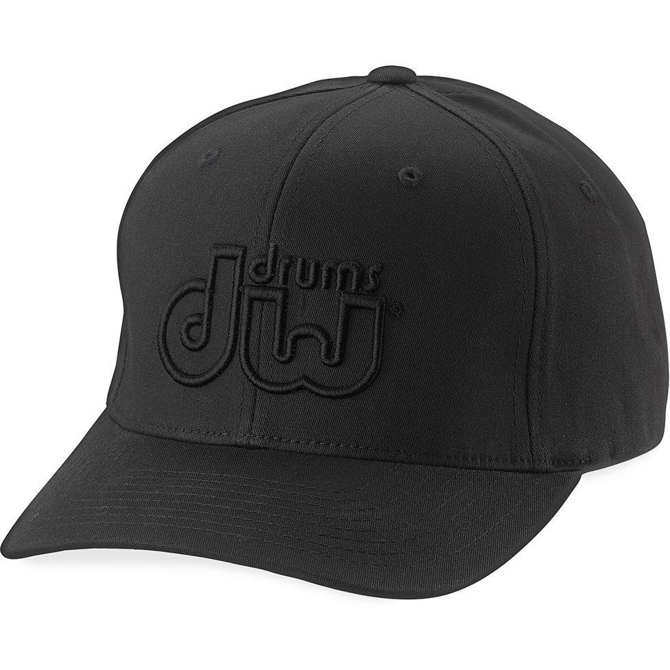 DW Black on Black Logo Performance Flexfit Cap