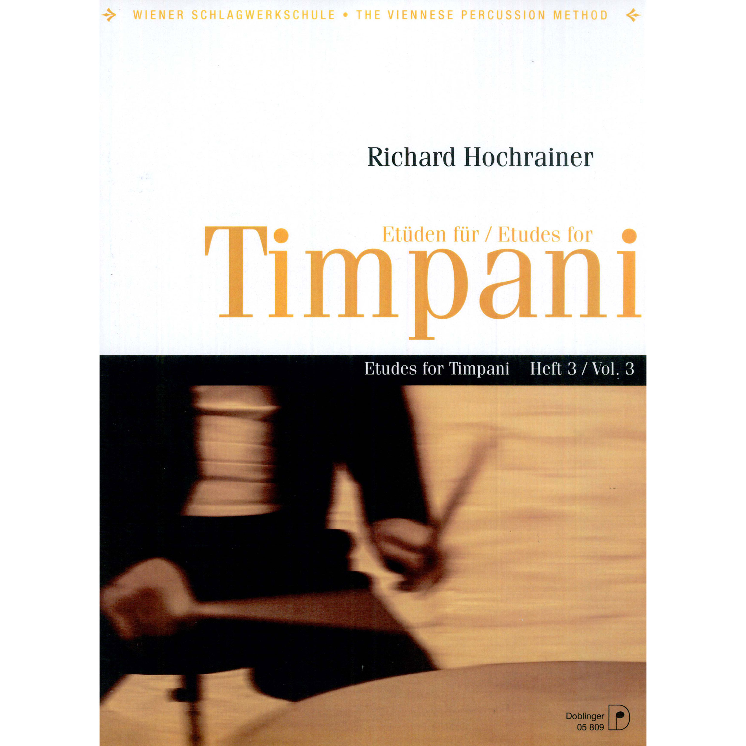 Etuden fur Timpani (Etudes for Timpani) Vol. 3 by Richard Hochrainer