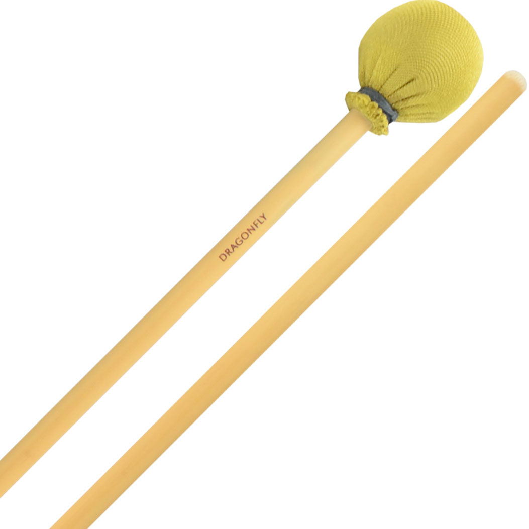 Dragonfly Percussion Hard Vibraphone Mallets with Rattan Handles
