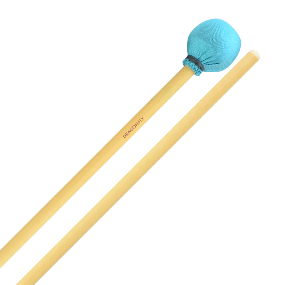 Dragonfly Percussion Medium Vibraphone Mallets with Rattan Handles