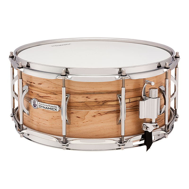 "Dynamicx 6.5"" x 14"" Live! Ambrosia Maple Unibody Snare Drum with Sterling Inlay"