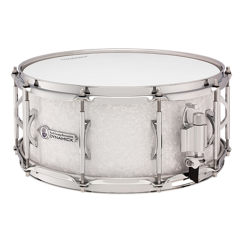 "Dynamicx 5.5"" x 14"" BackBeat Maple Snare Drum in White Pearl"