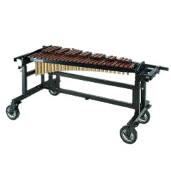 Bergerault 3.5 Octave Performance Series Rosewood Xylophone with Grid Iron Cart