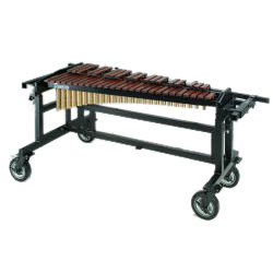 Bergerault 4.0 Octave Performance Series Rosewood Xylophone with Grid Iron Cart