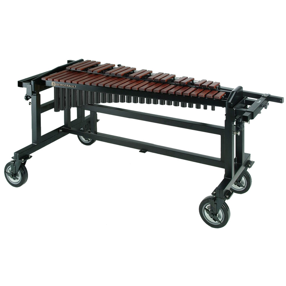 Bergerault 3.5 Octave Performance Series Synthetic Xylophone with Grid Iron Cart t